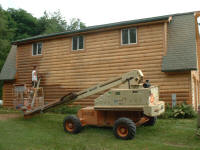 Picture of Log Home Cob Blasting (Corn Cob Blasting)